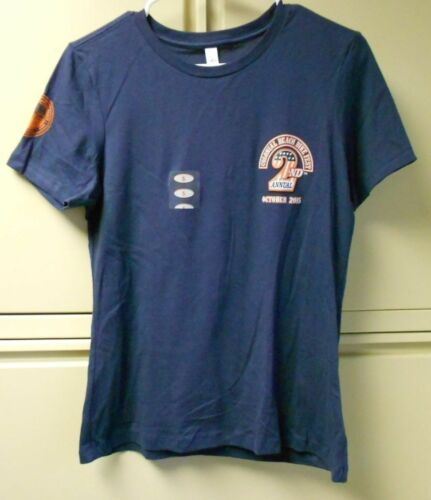 All American Harley Davidson 2nd Colonial Beach Bike Fest Women/'s Blue T Shirt