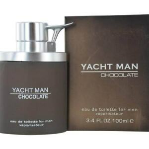 YACHT-MAN-CHOCOLATE-by-Myrurgia-cologne-EDT-3-3-3-4-oz-New-in-Box