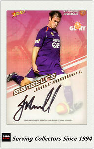 2008-09 Select A League Soccer Signature Card A5 Jamie Harnwell (Glory)