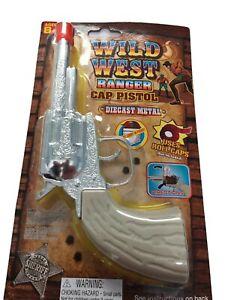 Wild-West-Ranger-Die-Cast-Metal-Pistol-Western-Cowboy-Toy-CAP-GUN
