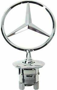 Glossy-Base-Hood-Bonnet-Star-Logo-Mercedes-Benz-W211-S211-W212-S212-W221-W222