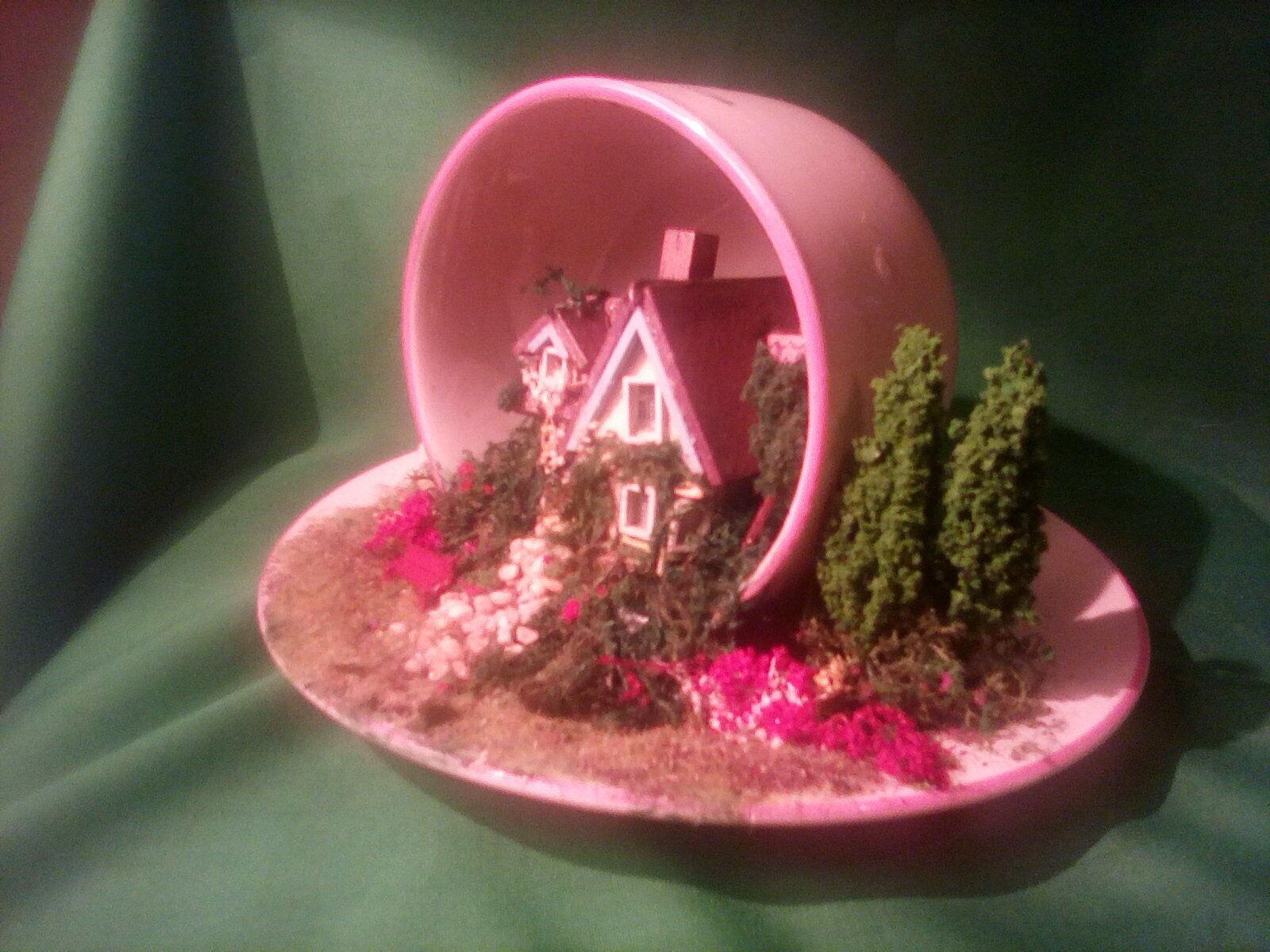 Handmade OOAK  1 144th Teacup house