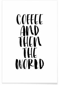 Coffee quotes Home decor wall cloth high quality Canvas