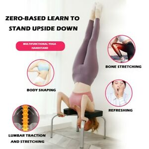 yoga headstand training chair inversion bench fitness