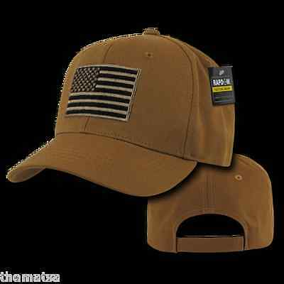 TACTICAL OPERATOR USA FLAG BLACK EMBROIDERED 100/% COTTON MILITARY HAT CAP