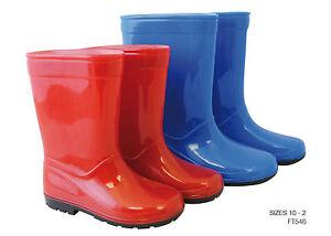 Kids-Boys-Girls-Wellies-Wellington-Boots-Red-Blue-UK-10-11-12-13-1-2-FREE-P-amp-P