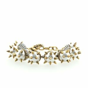 Gucci Spike Bracelet Pearls and Metal with Crystals