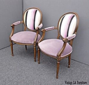Image Is Loading Vintage Pair Of Baker Furniture French Provincial Purple