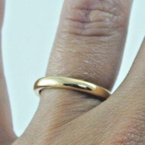 Rose-gold-22-carat-wedding-band-1960-3-7g-size-J