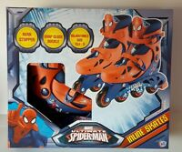 Marvel Spider Man Boys Inline Skates Roller Adjustable Size 13j To 3 Boys