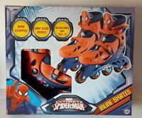 Marvel Spider Man Boys Inline Skates Roller Adjustable Size 13j To 3 Boys