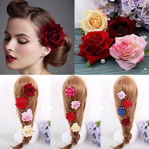 Rose-Flower-Hair-Clip-Hairpin-Brooch-Wedding-Bridal-Bridesmaid-Accessories-Hot