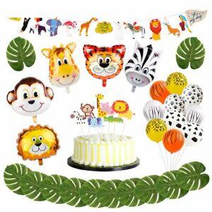 Tremendous Safari Jungle Theme Birthday Children Party Decorations Animal Funny Birthday Cards Online Inifofree Goldxyz