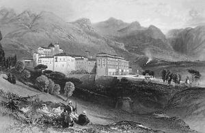 ITALY-San-Martino-Convent-Sicily-155-Years-Old-Antique-Print-Engraving