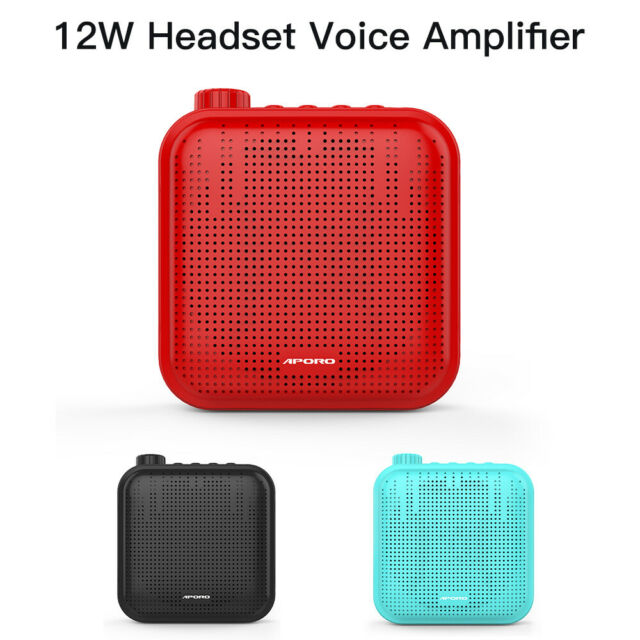 Portable 12W Voice Amplifier Microphone Megaphone Sound Amplifying for Meetings