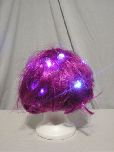 One Size Unisex Short Bob LED Light Up Party Wig 3 colors Gaggle of Glow