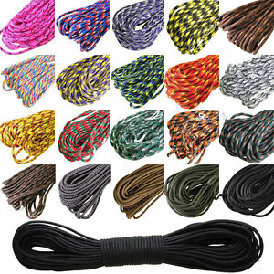 New-100FT-550-Paracord-7-Strands-Parachute-Cord-Rope-Lanyard-Mil-Spec-Type-AA