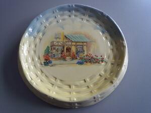 Vintage-1900-44-L-Sons-LTD-Hanley-Eng-England-Pie-Plate-10-034-The-Posy-Shop