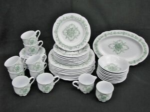 43-Pc-NIKKO-Green-Galaxie-Ironstone-Dinnerware-Service-for-8-Japan-MINT-58
