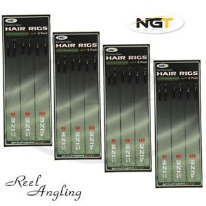 Barbless-Hair-Rigs-Carp-Fishing-Ready-Tied-Size-6-8-10-12lb-Braid-Coarse-Tackle