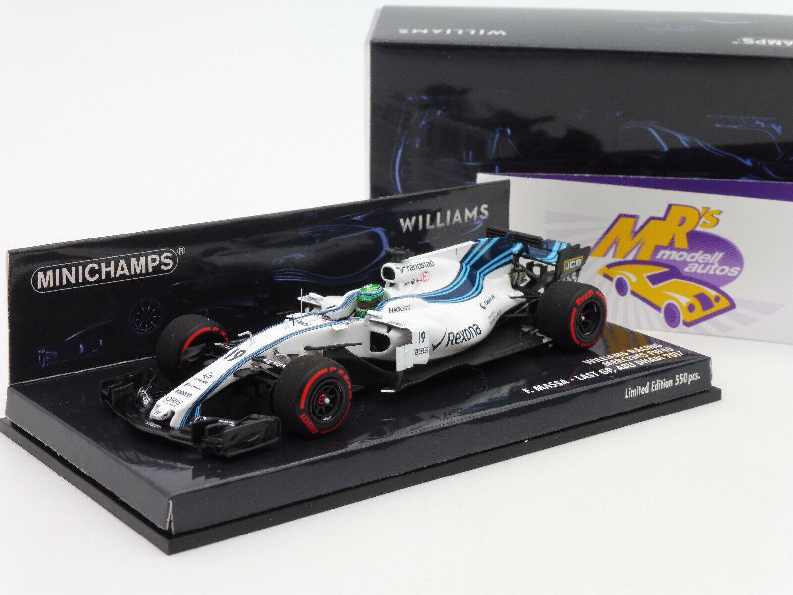 Minichamps 417172019   Williams Racing mercedes fw40  massa-Abu Dhabi  1 43