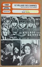 British Sci-Fi The Village Of The Damned George Sanders French Film Trade Card