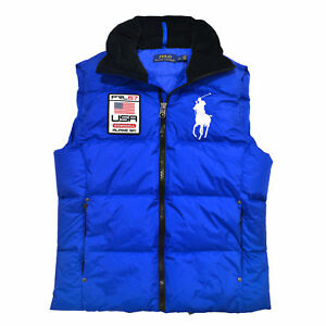 Polo Ralph Lauren Puffer Vest Down Feather Big Pony Ski ...