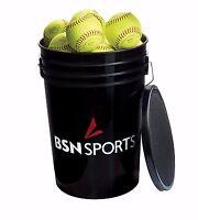 Bsn Sports Bucket W/2 Dz 11 Practice Softballs (brand Of Balls Will Vary) on sale