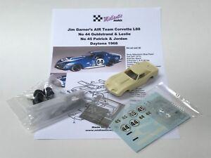 Mid39 1:43 Kit De 1968 L88 Corvette Air Team, Daytona, Voiture N ° 44/45 Pas Bbr / Spark