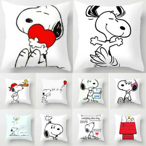 Home-Decor-Cute-Snoopy-Pillow-Case-Car-Bedroom-Sofa-Pillowcase-Dog-Cushion-Cover