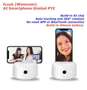 Wanscam Smart 360° Face Tracking Recognition phone Gimbal Vlog w battery Ai Chip