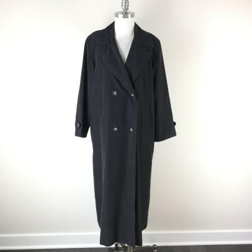 Vintage Cinzia Rocca 10 Black Long Trench Coat Rai