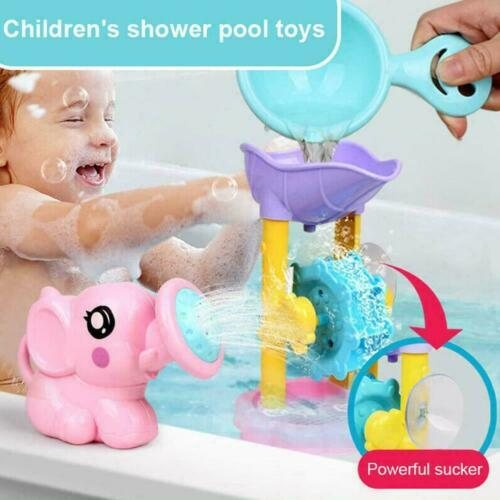 F8H0 Bad Spielzeug Dusche Spray Wasser Wasserrad Badewanne für Kinder Spielzeug