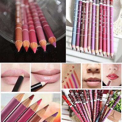 Women's 12 PCS Professional Lipliner Waterproof Lip Liner Pencil 15CM 12 Colors