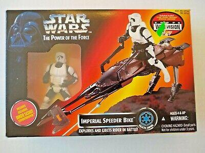 dans sa boîte #2 Imperial AT-ST Scout Walker 1995 Star Wars Power of the Force POTF En parfait état
