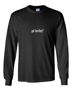Got-Hurdles-Funny-Gift-T-Shirt-Black-White-Long-Sleeve-Tee-Shirt-S-5XL