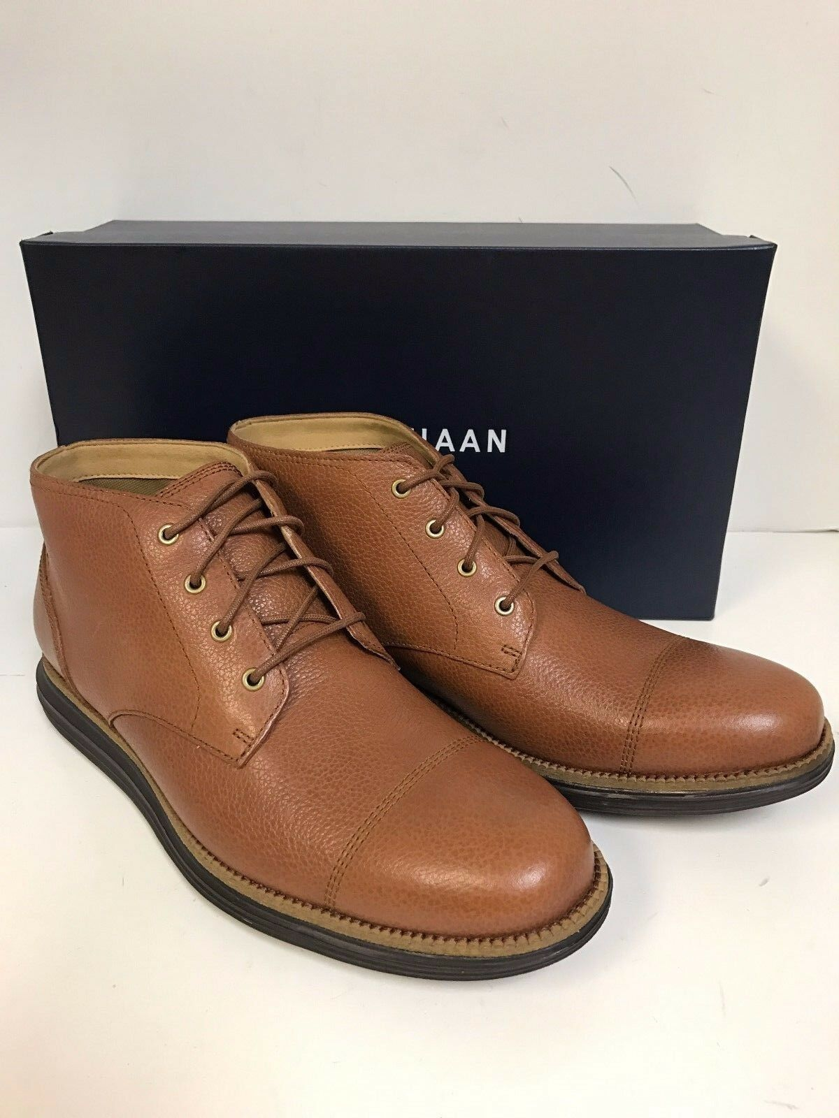 fcf864c6bd303 Cole Haan Original Grand Chukka II Leather BOOTS Size 8.5 for sale ...