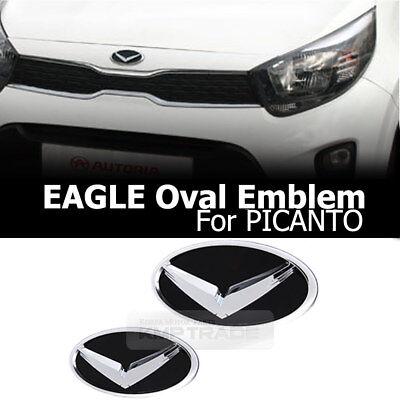 Eagle Hood Trunk  Emblem Set Badge For KIA Picanto 2011 2016