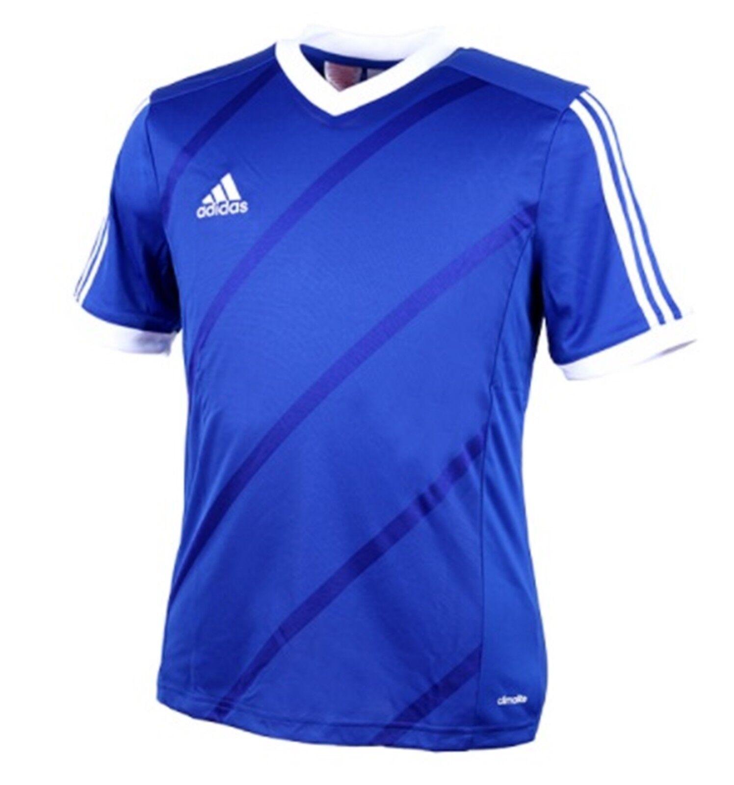 Adidas Jeunesse Tabela 14 Entraînement Soccer Climalite Bleu Blanc Enfant Shirts F50452