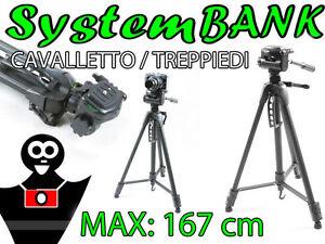 CAVALLETTO TREPPIEDI 160cm 3D per CANON EOS 600D 60D 1000D 550D 500D 450D 50D 7D