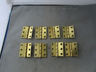 "8 NOS Brass Plated Limited Degree Butt Hinges 2/"" x 2/"" 140 150  Weber Knapp WKC"