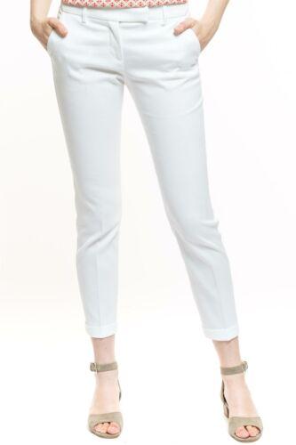 Cotton Strech Trousers Damen Hose weiß Designer Neu 139€ STEFANEL