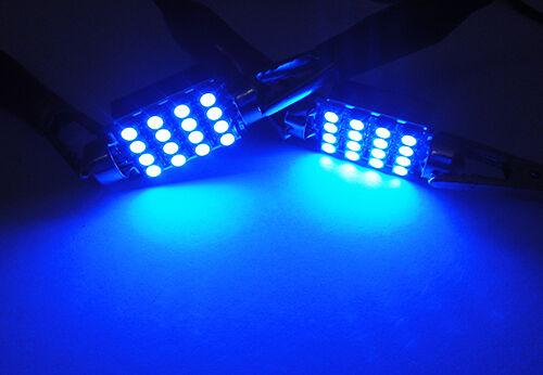 BLUE No Error 16 SMD LED 6418 6411 for PORSCHE License Plate Light Festoon Bulb