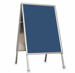 BLUE Stand Board A-BOARD PVC FOR A2 SIZE POSTERS POSTER Display Pavement Sign