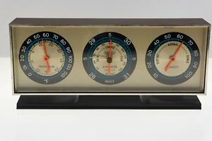 VINTAGE Springfield Instrument Barometer Thermometer Humidity Gauge EXCELLENT