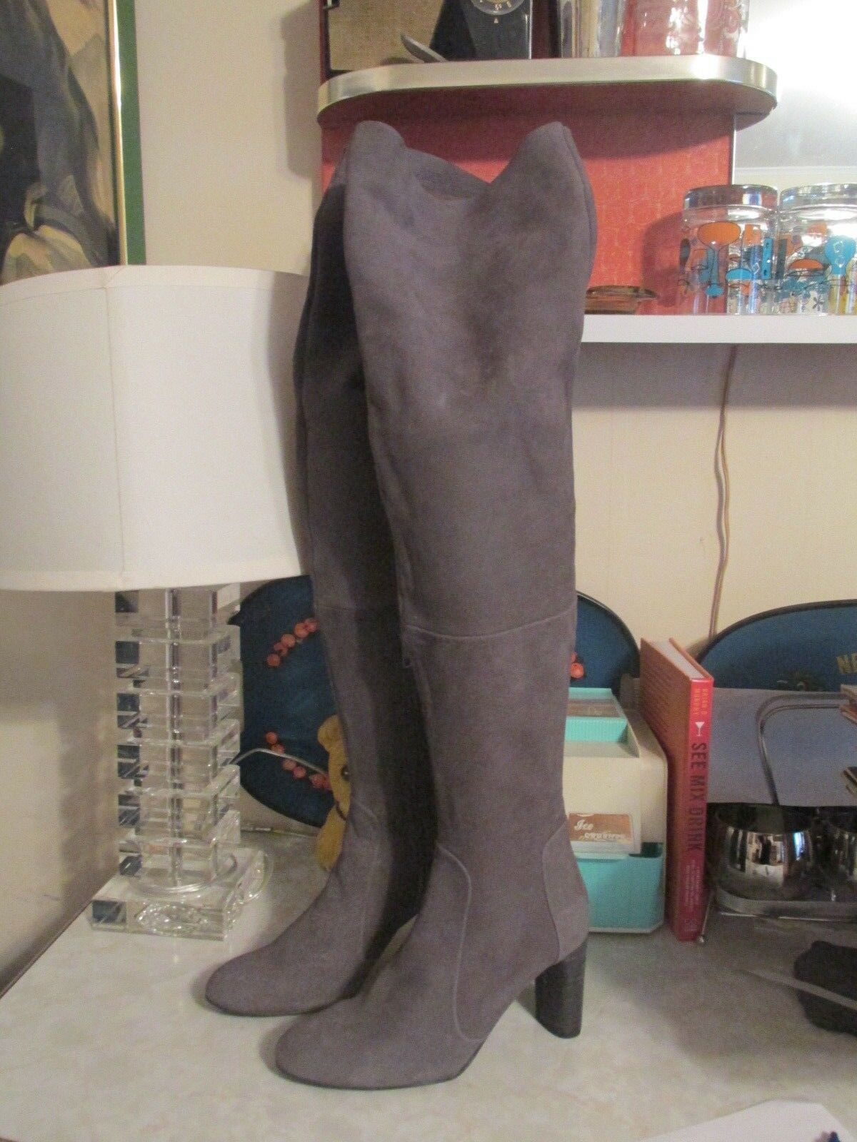 Free people Lachlan over the knee boot size NWOB