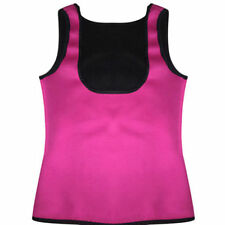 HOT Thermo Sweat Body Shaper Corset Slimming Waist Trainer Cincher Black Vest US