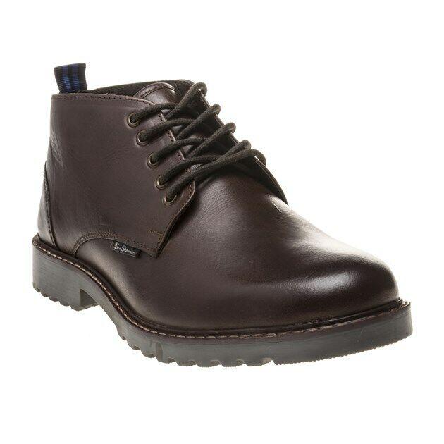 New Mens Ben Sherman braun Ellington Leather Stiefel Chukka Lace Up