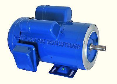AC MOTOR, 2HP, 1725RPM, 1PH, 115V/208-230V,  56C/TEFC, With base