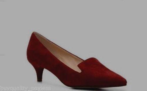 Cole Haan Daphne Pump Heel Heel Heel Garnet Suede Dress shoes Womens 8.5 NEW IN BOX 1c1b4a
